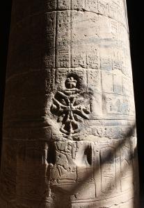 christianization -- cross over hieroglyphs 2